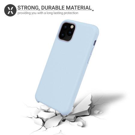 Olixar Soft Silicone iPhone 11 Pro Case - Pastel Blue