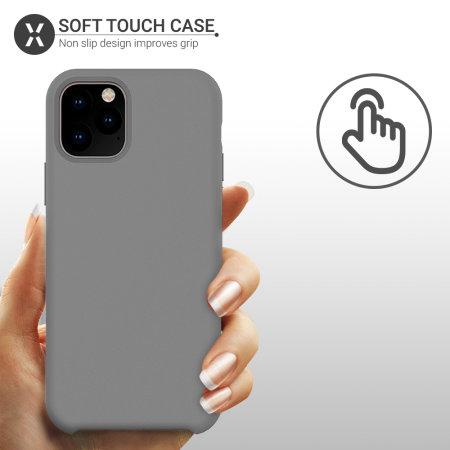 Olixar Soft Silicone iPhone 11 Pro Case - Grey