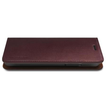 VRS Design Echt lederen Diary iPhone 11 Pro Hoesje - Rood