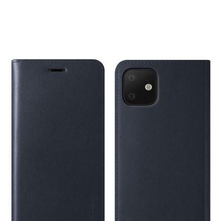 Funda iPhone 11 VRS Design Diary Cuero - Azul Marina