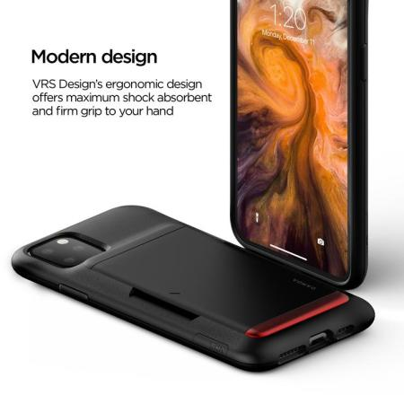 VRS Design Damda Glide Shield iPhone 11 Pro Case - Matt Black