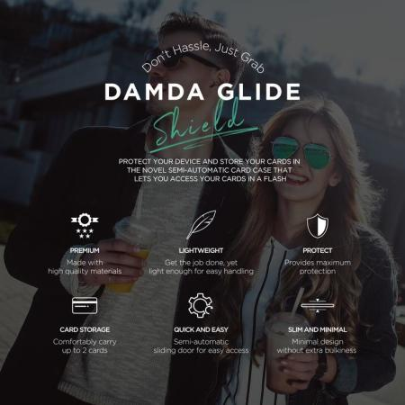 VRS Design Damda Glide Shield iPhone 11 Pro Case - Black Marble