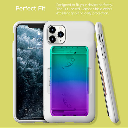 VRS Design Damda Glide Shield iPhone 11 Pro Max Case - Green/Purple