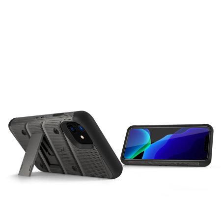 Zizo Bolt Series iPhone 11 Case & Screen Protector - Grey/Black