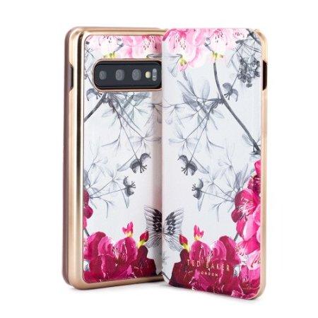 Ted Baker Mirror Folio Samsung Galaxy S10 Case - Babylon Nickel