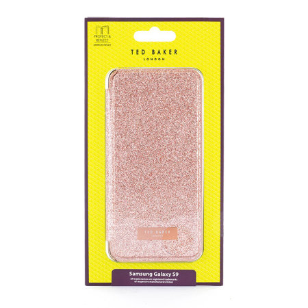 Ted Baker Folio Glitsie Samsung Galaxy S9 Case - Rose Gold