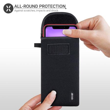 Olixar Neopren Universal Smartphone Tasche Tasche - Schwarz
