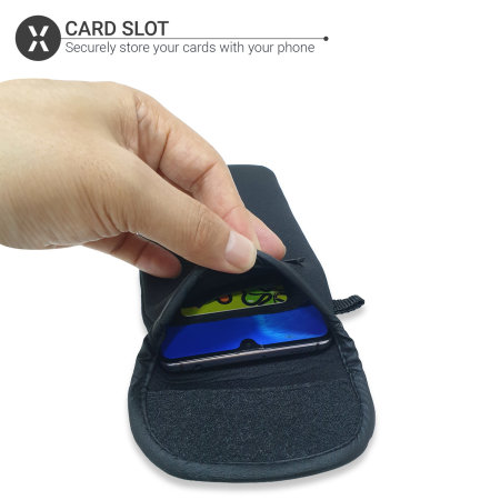 Olixar Neoprene Universal Smartphone Pouch Case - Black