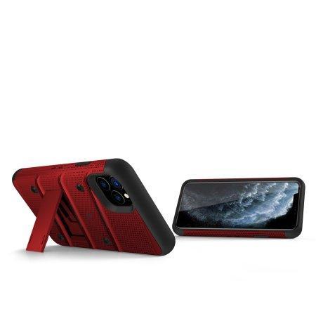 Funda iPhone 11 Pro Zizo Bolt con Protector de Pantalla - Roja / Negra