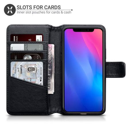 Olixar Genuine Leather iPhone 11 Wallet Case - Black