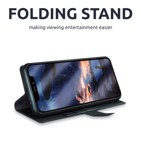 Olixar Genuine Leather iPhone 11 Pro Max Wallet Case - Black