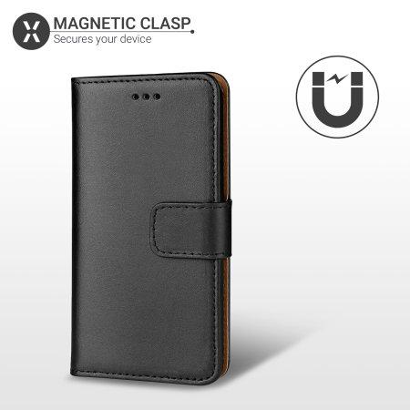 Olixar Genuine Leather iPhone 11 Pro Wallet Case - Black