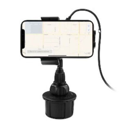 Macally Universal Car Cup Gravity Linkage Phone Holder Mount - Black