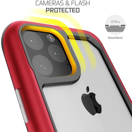 Funda iPhone 11 Pro Max Ghostek Atomic Slim 3 - Roja
