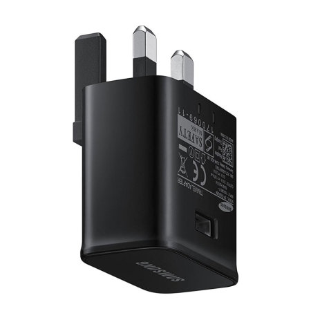 Official Samsung Galaxy A30s Fast Charger & USB-C Cable - Black