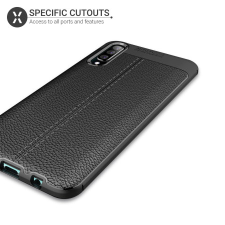 Olixar Attache Samsung Galaxy A50s Leather-Style Case - Black