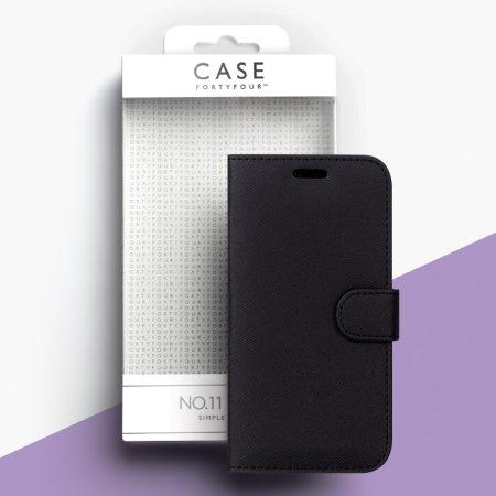 Case FortyFour No.11 Samsung Galaxy A30s Cross Grain Black