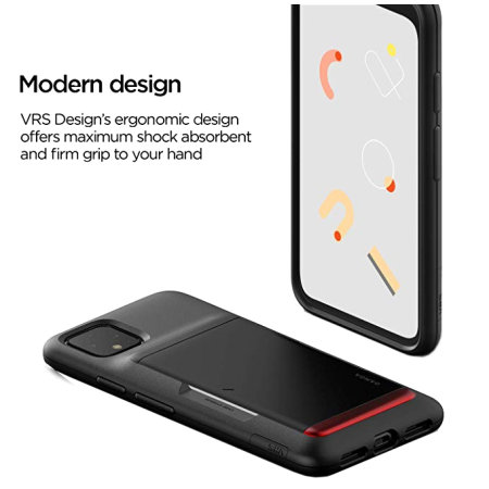 VRS Design Damda Glide Shield Google Pixel 4 Case - Matt Black
