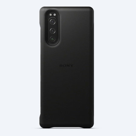 Official Sony Xperia 5 Style Leather Cover Case - Black