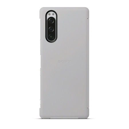 Official Sony Xperia 5 Style Cover View Case - Grey