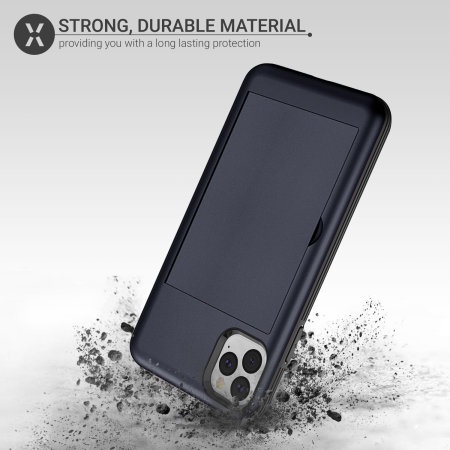 Olixar Armour Vault iPhone 11 Pro Max Tough Wallet Case - Navy