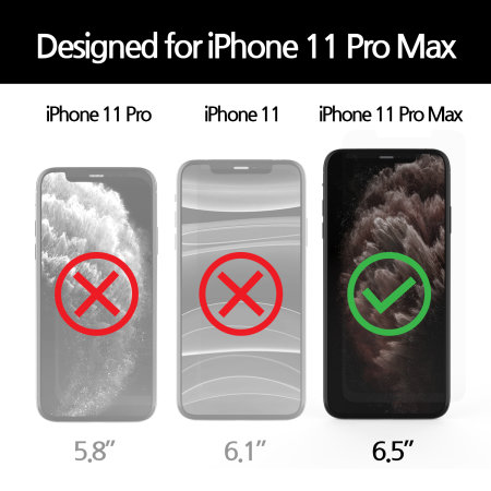 Whitestone Dome Glass iPhone 11 Pro Max Full Cover Screen Protector