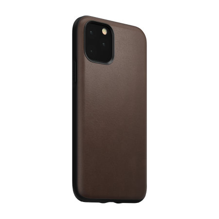 Nomad iPhone 11 Pro Rugged Horween Leather Case - Rustic Brown