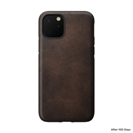 Nomad iPhone 11 Pro Max Rugged Horween Leather Case - Rustic Brown
