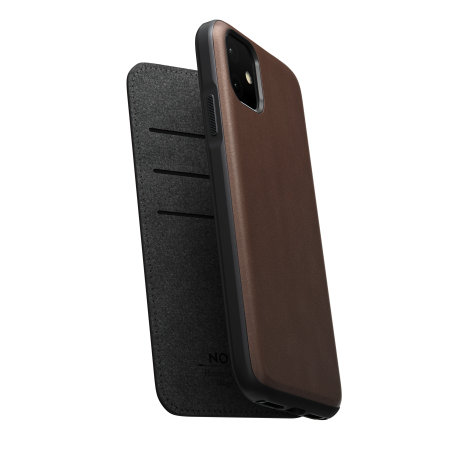 Nomad iPhone 11 Rugged Folio Horween Leather Case - Brown