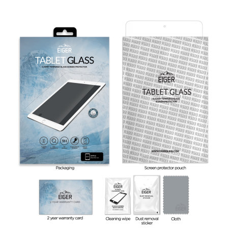 """Eiger 2.5D iPad 10.2"""" Glass Screen Protector - Clear"""