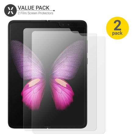 Olixar Samsung Galaxy Fold Film Screen Protector 2-in-1 Pack