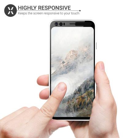 Olixar Google Pixel 4 Tempered Glass Screen Protector - Black