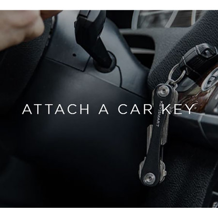 KeySmart Compact 8 Keys Multi-Accessory Leather Key Holder - Black