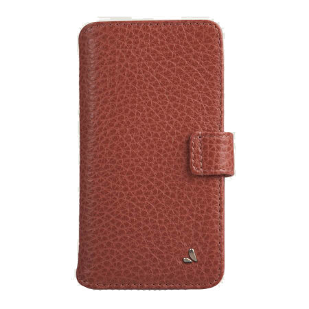 Vaja iPhone 11 Pro Max Premium Leather Wallet Case - Tan