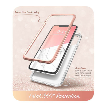 i-Blason Cosmo iPhone 11 Slim Case & Screen Protector - Marble