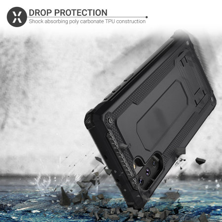Olixar Manta Galaxy Note 10 Tough Case & Tempered Glass - Black