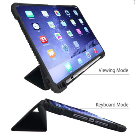 "Devia iPad 10.2"" ShockProof Protective Fold Case - Black"