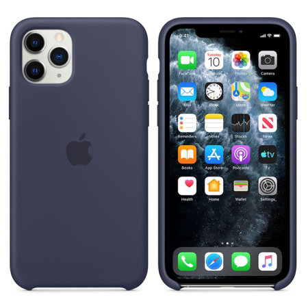 Official Apple iPhone 11 Pro Silicone Case - Midnight Blue