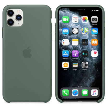 Official Apple iPhone 11 Pro Max Silicone Case , Pine Green