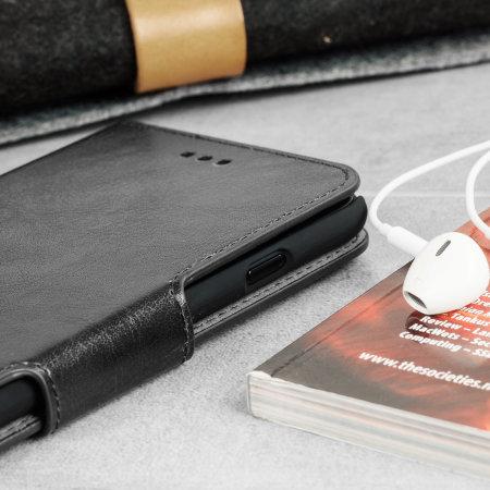 Olixar Leather-Style Nokia 7.2 Wallet Stand Case - Black