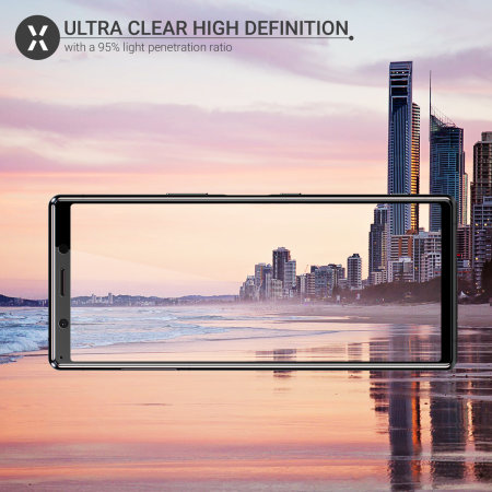 Olixar Sony Xperia 5 Full Cover Glass Screen Protector - Black