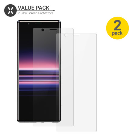 Olixar Sony Xperia 5 Film Screen Protector 2-in-1 Pack