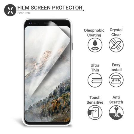 Olixar Google Pixel 4 Film Screen Protector 2-in-1 Pack