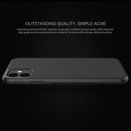 Nillkin Synthetic Fibre Series iPhone 11 Tough Cover Case - Black