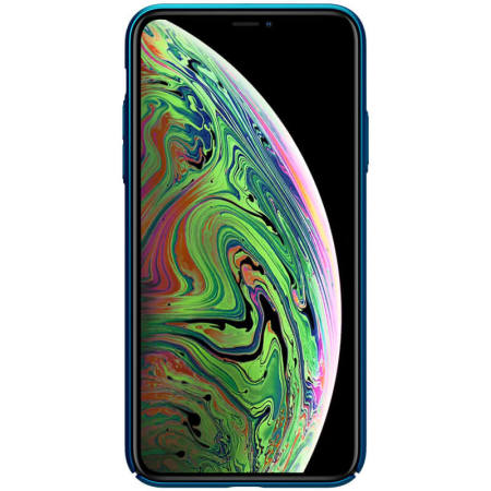 Nillkin Super Frosted Shield iPhone 11 Pro Max Case - Peacock Blue