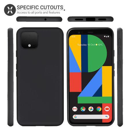 Olixar Soft Silicone Google Pixel 4 Case - Black