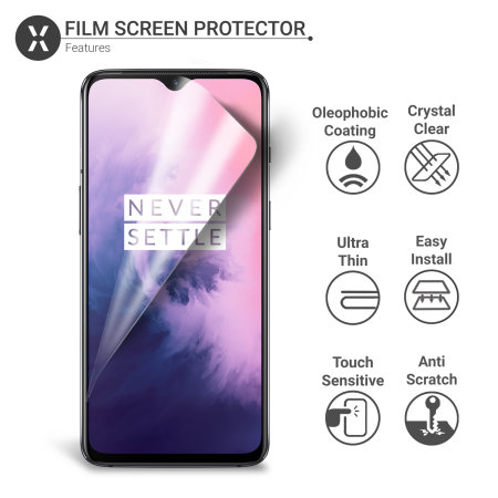Olixar OnePlus 7T Film Screen Protector 2-in-1 Pack