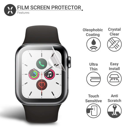 Olixar Apple Watch Series 5 TPU Screen Protectors - 44mm