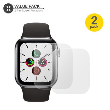 Olixar Apple Watch Series SE / 6 / 5 / 4 TPU Screen Protectors - 44mm