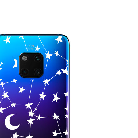 LoveCases Huawei Mate 20 Pro Gel Case - White Stars And Moons